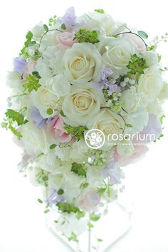 Cascading Bridal Bouquets, Spring Wedding Bouquets, Bridal Flowers, September Flowers, Wedding Accessories For Bride, Bridal Boutique, White Flowers, Wedding Anniversary, Flower Arrangements