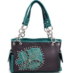 Health Beauty Collection - Montana West Western Floral Adorned Shoulder Bag with Rhinestone Accents- CF/BL, $42.99 (http://www.healthbeautycollection.com/montana-west-western-floral-adorned-shoulder-bag-with-rhinestone-accents-cf-bl/)