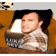 Luke Bryan Country Pop Photo Plush Fleece Throw Blanket Bedspread