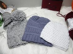 """Creating In The Mitten reviews the OttLite 22w Clamp Magnifier: """"The way they have figured out how to recreate natural light is going to be a life saver for me in the winter when it's dark forever."""" #crochet Clamp, Natural Light, Mittens, Knitted Hats, Winter Hats, Give It To Me, Community, Knitting, Dark"""