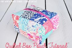 Sewing Crafts To Make and Sell - Quilted Box Pouch - Easy DIY Sewing Ideas To Make and Sell for Your Craft Business. Make Money with these Simple Gift Ideas, Free Patterns, Products from Fabric Scraps, Cute Kids Tutorials http://diyjoy.com/crafts-to-make-and-sell-sewing-ideas