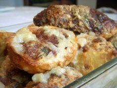 Tapas de patatas con carne - Comida Española