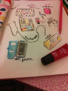 #28tomake #day4 draw what's in your bag  #creativelive