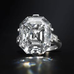 17 carat Asscher-cut diamond ring, circa 1935.  I want this on my finger.  Any finger!