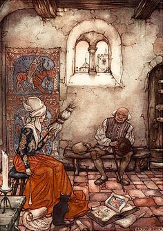 "Illustration by Anton Pieck for Selma Lagerlöf's ""The Wonderful Adventures of Nils"", 1940"