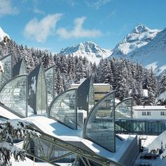 Tschuggen Grand Hotel & Wellness Centre (Berg Oase)  Arosa , Switzerland  by Mario Botta Architetto  www.botta.ch