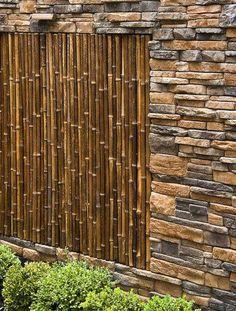 muros de piedra de construcción e ideas patio de jardinería