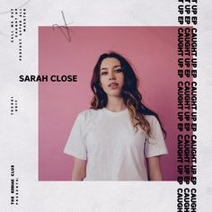 Sarah Close - Caught Up EP. Cover art by Casey Roarty Graphic Design Layouts, Graphic Design Posters, Graphic Design Inspiration, Layout Design, Web Design, Album Design, Book Design, Sarah Close, Typographie Inspiration