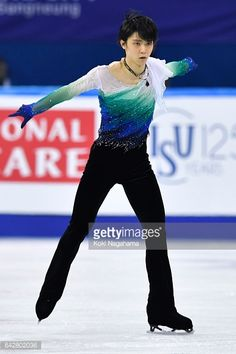 Yuzuru Hanyu of Japan competes in the men's free skating during ISU Four Continents Figure Skating Championships - Gangneung -Test Event For PyeongChang 2018 at Gangneung Ice Arena on February 19,...