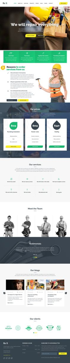 Fixit is beautiful Bootstrap HTML Template for #Construction #business #website. Download Now!