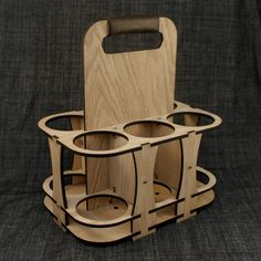 Wooden Beer Holder, Laser Cut Wood - Diamonds Are Evil