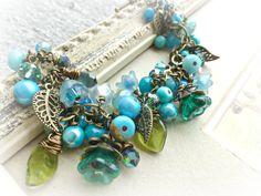 Czech Glass, Andria McKee, McKee Jewelry Designs, copper, boho bracelet, gift, handmade jewelry, jewellery, ceramic, beaded, artisan, accessories, fashion