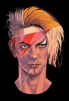 """pixmilk: """" …and tribute to David Bowie. Thank you for the inspiration, sir! David Bowie Tattoo, David Bowie Art, David Bowie Eyes, David Bowie Labyrinth, David Bowie Goblin King, Illustrator, Aladdin Sane, The Thin White Duke, Ziggy Stardust"""