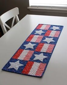 Quilt your own stars and stripes table runner with A Bright Corner's free tutorial and pattern. If you're new to quilting don't worry we have a beginners guide to quilting right here on Gathered.