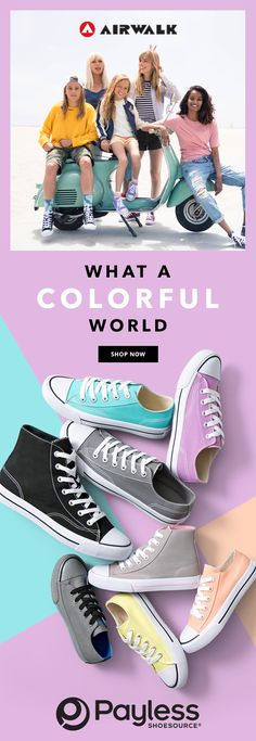 Colors of the season. Airwalk, Converse Chuck Taylor All Star, Cold Drinks, On Shoes, Kitten Heels, Footwear, Ads, My Style, Colors
