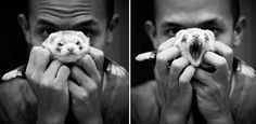 Real men play with their weasels. Lol so cute! If there was a guy that was an animal lover and a gamer, I would marry him on the spot