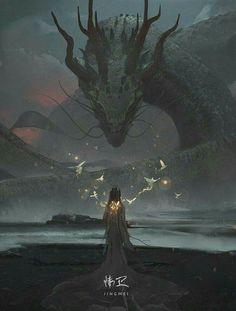 New concept art fantasy characters dragon Ideas Fantasy World, Dark Fantasy, Fantasy Queen, Medieval Fantasy, Fantasy Creatures, Mythical Creatures, Art Watch, Art Et Illustration, Monster Illustration