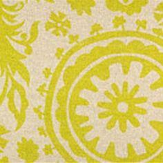 Suzani Village Green Denton Contemporary Drapery Fabric by Premier Prints