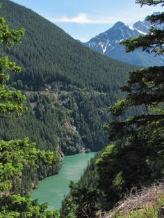 Diablo Dam Trail, North Cascades, Washington.
