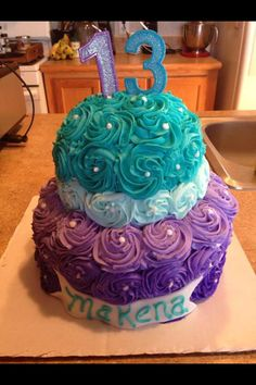 Teen birthday cake