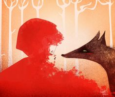 Red Riding Hood and the Wolf by *Huguettepizzic (deviantART)
