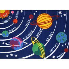 Fun Rugs Fun Time Solar System Kids Rug