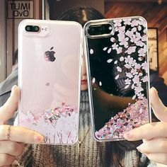 Dynamic liquid glitter Case for iPhone 8 7 6 Plus X Fresh Tulip flower quicksand Case For iPhone 6 Plus girl style Diy Iphone Case, Iphone Phone Cases, Iphone Ringtone, Cell Phone Covers, Coque Smartphone, Coque Iphone, T Mobile Phones, Mobile Cases, Glitter Phone Cases