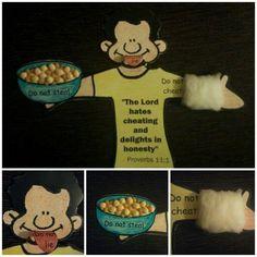 Jacob and Esau - - >A craft(a fridge magnet) showing Jacob's trickery.: