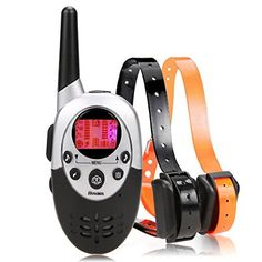 Homdox Water Proof Rechargeable Adjustable Pet Training Collars Water Resistant Dog Training Collar Adjustable E Collar with Wireless Remote -- Continue to the product at the image link.