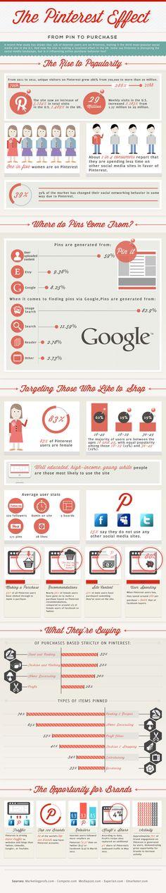 Infografica sulle caratteristiche del Pinterest Social Commerce - Guida Social Commerce