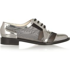 Robert Clergerie Jabi metallic leather and mesh brogues and other apparel, accessories and trends. Browse and shop 14 related looks.