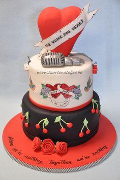 rockabilly wedding cake, Taartenateljee