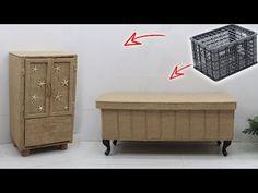 Sisal, Crate Crafts, Plastic Crates, Storage Organization, Jute, Furniture, Craft Ideas, Home Decor, Crochet