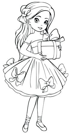 Dolls coloring pages. Free Printable Dolls coloring pages. Barbie Coloring Pages, Disney Princess Coloring Pages, Disney Princess Colors, Cute Coloring Pages, Coloring Pages For Girls, Coloring Pages To Print, Coloring For Kids, Coloring Books, Art Drawings For Kids
