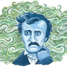 I painted this almost twenty years ago, but I'm making prints. Why not? They will be available soon, check the link in my profile. It's a fb page. I'm going to get a real, grownup website one day. I swear.   #edgarallanpoe #shesnotthereart #poeart