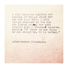The Universe and Her, and I poem #121 written by Christopher Poindexter