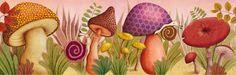 Marie Desbons: automne  #mushrooms #snails #illustration