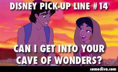Dirty disney pick-up lines: # 14 Clean Pick Up Lines, Terrible Pick Up Lines, Corny Pick Up Lines, Disney Jokes, Disney Fun, Disney Shirts, Disney Stuff, Disney Magic, Walt Disney
