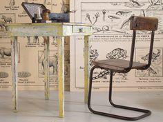 Ensemble de bureau vintage enfant by LES PETITS BOHEMES