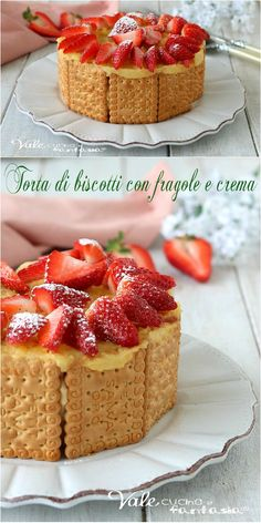 Italian Cake, Beautiful Fruits, Biscotti, Strawberry Recipes, No Bake Desserts, Nutella, Mousse, Waffles, Bakery