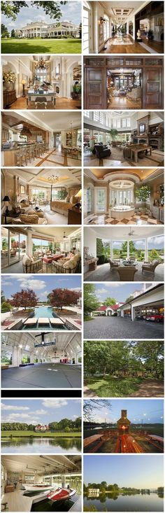 Photos of Nashville home of country singer Alan Jackson as designed by the Sater Group in 1997...