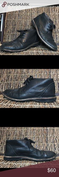 ♻️ John Varvatos Black leather Lace up Boots 9.5 John Varvatos U.S.A black leather Lace up ankle boots in great condition John Varvatos Shoes Boots