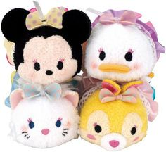 Minnie, Daisy, Marie, and Miss Bunny Harajuku Tsum Tsum Set - Only available in Japan