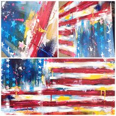 Art Print from American Flag ABSTRACT Large Original Painting - ABSTRACT EXPRESSIONISM Modern Painting on Gallery Wrapped Canvas by Lana Moes For this colorful abstract painting I was inspired by a moment from my resent trip to DC and American Expressionist Jasper Johns. This piece was created with impasto palette knife application of professional heavy base acrylic paint, blending, dripping and weaving the materials through one another in varying thickness. For me this painting is a…