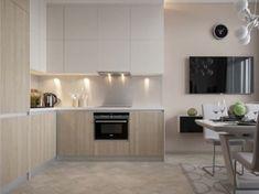 Small, Smart Studios with Slick, Simple Designs Minimalist Bedroom Small, White Brick Walls, Small Space Living, Apartment Design, Studio Apartment, Cabinet Design, Modern Room, Small Apartments, Interior Design Kitchen