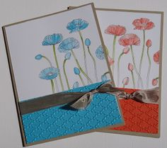 my paper playhouse: With 1 stamp ... part 2 Pleasant Poppies, Stampin Up