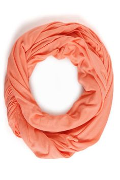 Bright Time Neon Coral Infinity Scarf