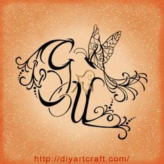 #butterfly #monogram #tattoo GUR
