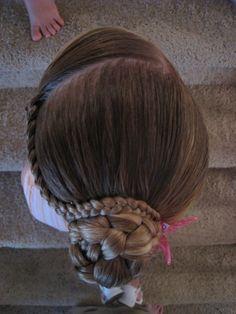 I love doing little girl hair!