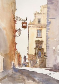 I love the use of white and the transparency of the watercolors.